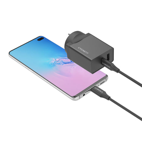 18W Dual Wall Charger USB-C and USB-A (QC 3.0) + USB-C to USB-C Cable - Cygnett (AU)