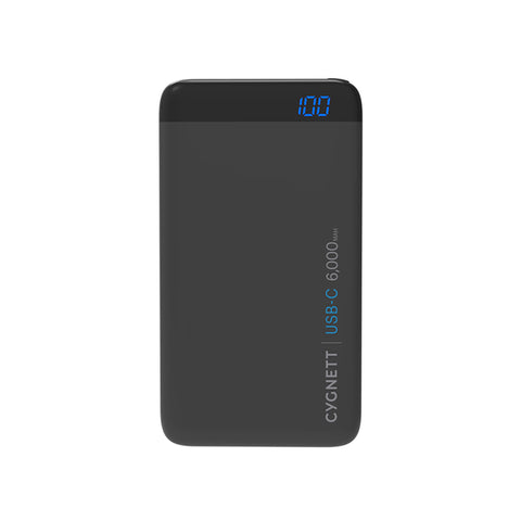 6000mAh USB-C Power Bank in Black - Cygnett (AU)