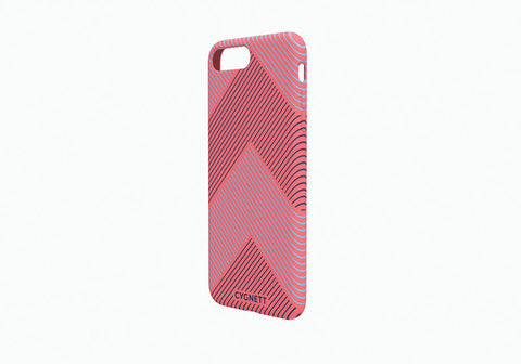 iPhone 8 Plus & 7 Plus Chevron Stripe Case in Red