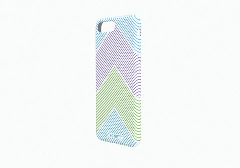 iPhone 8 Plus & 7 Plus Chevron Stripe Case in White