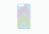 iPhone 8 Plus Chevron Stripe Case in White