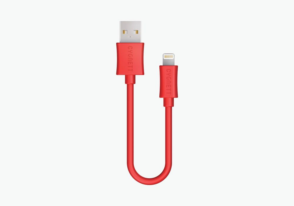 Lightning to USB Cable 10cm - Red