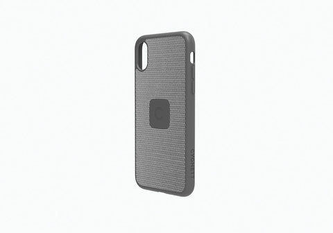 iPhone Xs & X Slim Case with Carbon Fibre in Silver