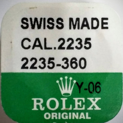 Rolex Second Wheel Cal. 2235 2235-360 (Factory Sealed) - Kupfer Jewelry - 1