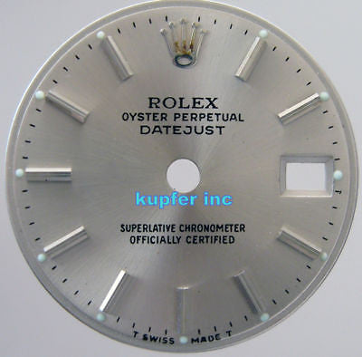 Rolex Ladies Datejust Dial - Silver - Kupfer Jewelry