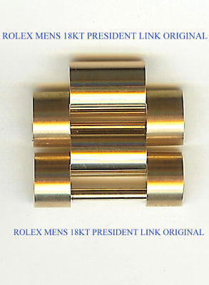 Rolex Mens President 18kt Yellow Gold Links with Screws - Kupfer Jewelry - 1