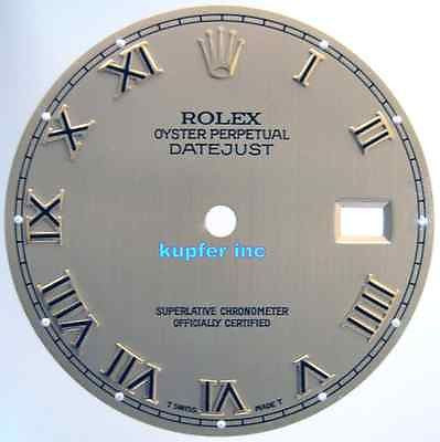 Rolex Mens Datejust Dials - Railroad Tracks - Kupfer Jewelry