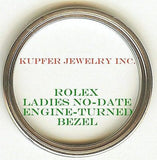 Rolex Ladies No-Date Bezel - Engine Turned - Kupfer Jewelry - 2
