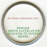 Rolex Mens President, Date-Just, Date Bezel - Engine Turned - Kupfer Jewelry - 1