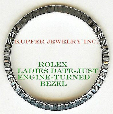 Rolex Ladies Presient, Date-Just, Date Bezel - Engine Turned - Kupfer Jewelry - 1