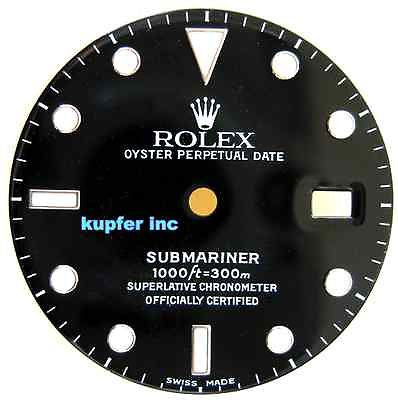 Rolex Mens Submariner Dial - Black and Silver - Kupfer Jewelry - 1