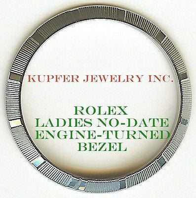 Rolex Ladies No-Date Bezel - Engine Turned - Kupfer Jewelry - 1