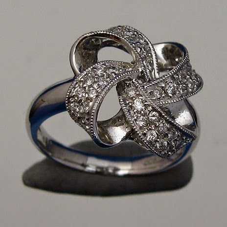 "Kupfer Jewelry ""Bow with Diamonds"" Platinum Ring by Kupfer Jewelry Design - Kupfer Jewelry"
