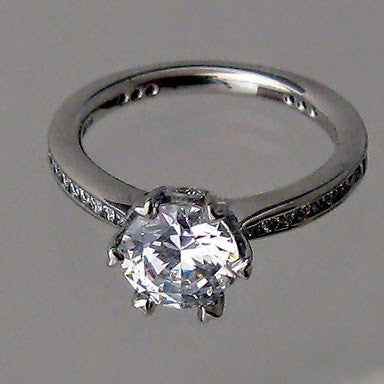 Ritani Ritani Platinum Engagement Ring (Mounting ONLY Center Diamond Sold Separately) - Kupfer Jewelry