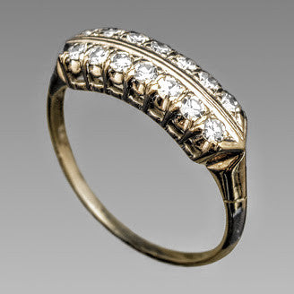Estate Vintage Diamond Ring in White Gold - Kupfer Jewelry