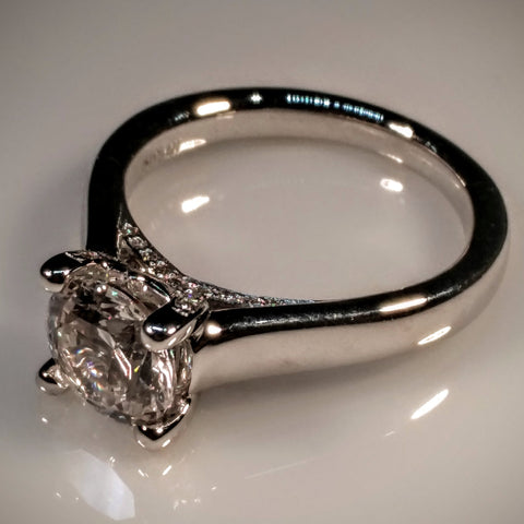 Ritani Ritani Engagement Ring Micro-Pave Set Platinum (Mounting ONLY Center diamond sold separately) - Kupfer Jewelry - 1