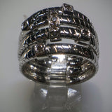 Kupfer Jewelry Braids and Diamonds White Gold Ring by Kupfer Jewelry Design - Kupfer Jewelry - 1