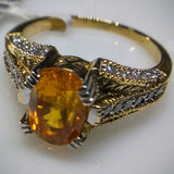 Kupfer Jewelry Natural Certified Golden Sapphire in Yellow Gold Ring by Kupfer Jewelry Design - Kupfer Jewelry - 1