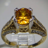 Kupfer Jewelry Natural Certified Golden Sapphire in Yellow Gold Ring by Kupfer Jewelry Design - Kupfer Jewelry - 2