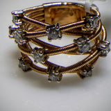 "Kupfer Jewelry ""COIL"" with Diamonds Rose Gold Ring by Kupfer Design - Kupfer Jewelry - 1"
