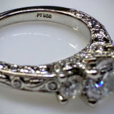 Ritani Ritani Platinum Engagement & Wedding Ring Set (without center diamonds) - Kupfer Jewelry - 4