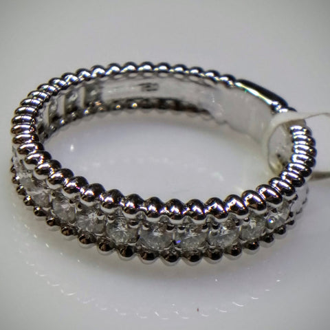 "Kupfer Jewelry White Gold Diamond ""Beaded"" Ring by Kupfer Design - Kupfer Jewelry - 1"