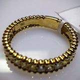 "Kupfer Jewelry Yellow Gold Diamond ""Beaded"" Ring by Kupfer Design - Kupfer Jewelry - 3"