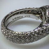 Verdi Verdi Micro-Pavé 18kwg Engagement Ring (Mounting Only) - Kupfer Jewelry - 5