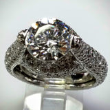 Verdi Verdi Micro-Pavé 18kwg Engagement Ring (Mounting Only) - Kupfer Jewelry - 3