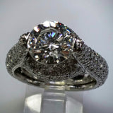 Verdi Verdi Micro-Pavé 18kwg Engagement Ring (Mounting Only) - Kupfer Jewelry - 2