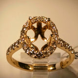 "EmilyK. ""Halo"" Engagement Ring in 18kt Yellow Gold by EmilyK.  (Mounting Only) - Kupfer Jewelry - 2"
