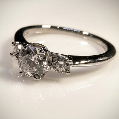 Ritani Platinum Engagement Ring by Ritani (Mounting Only) - Kupfer Jewelry - 1