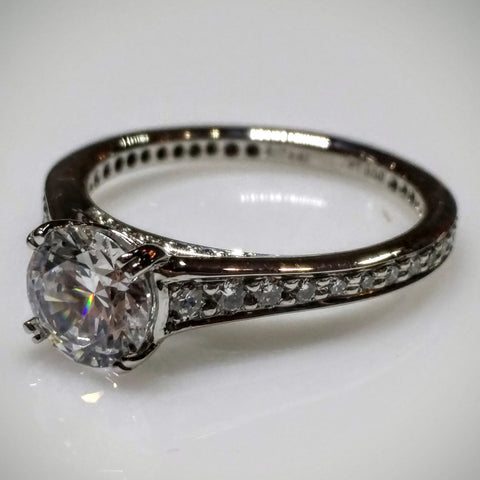 Ritani Engagement Ring in Platinum by Ritani (Mounting ONLY without Center) - Kupfer Jewelry - 1