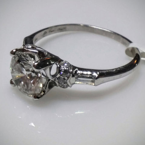 EmilyK. Engagement RIng with Diamonds in Platinum by EmilyK. - Kupfer Jewelry - 1
