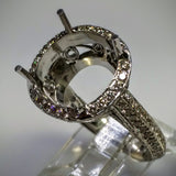 Danhov Couture Engagement Ring in 18kt White Gold by Danhov Couture (Mounting ONLY) - Kupfer Jewelry - 4