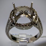 Danhov Couture Engagement Ring in 18kt White Gold by Danhov Couture (Mounting ONLY) - Kupfer Jewelry - 3