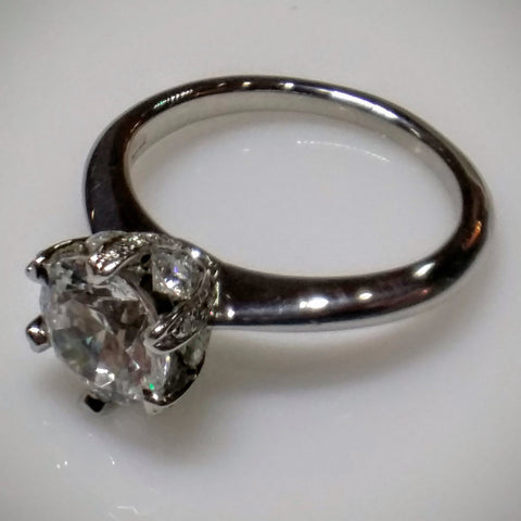 Ritani Engagement Ring in Platinum by Ritani (Mounting ONLY) - Kupfer Jewelry - 1