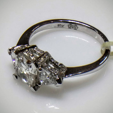 Kupfer Jewelry Engagement Ring 18kt White Gold by Kupfer Design - Kupfer Jewelry - 1