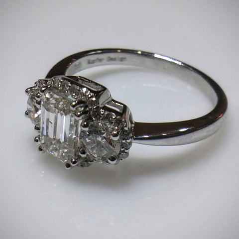 Kupfer Design Engagement Ring in 18kt White Gold by Kupfer Design - Kupfer Jewelry - 1