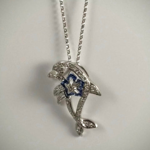 Kupfer Jewelry Dolphin Pendant with Diamonds and Sapphires - Kupfer Jewelry - 1