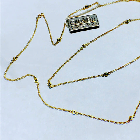 Yellow Gold Diamond Necklace XL by Garavelli