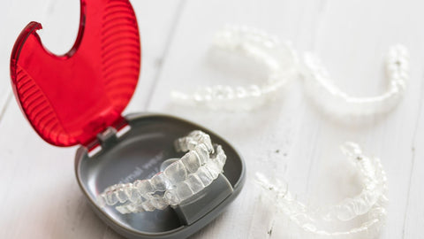 invisalign trays in a case