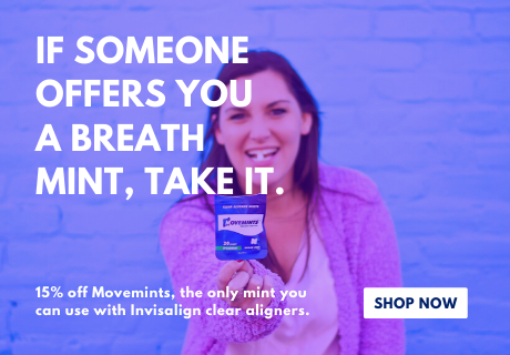 Shop Movemints clear aligner mints for Invisalign for 15% off your order