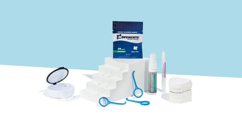 Our Essential Clear Aligner Accessories kit includes products for Invisalign like the OrthoKey aligner removal tool