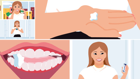 Movemints clear aligner mints are the perfect accessory for the Invisalign clear aligner journey