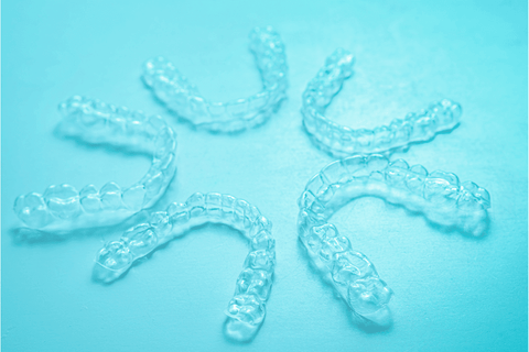 aligners blue clear five retainers