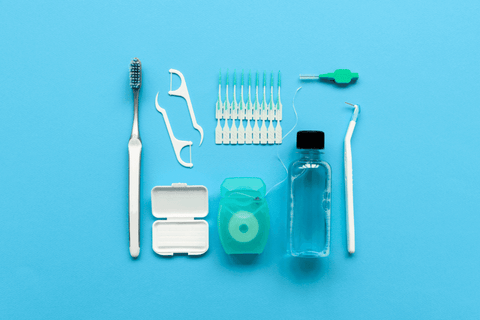 dental orthodontic care kit with wax and other tools