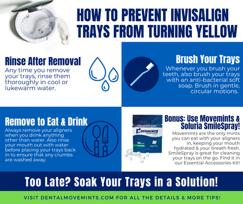 prevent invisalign from yellowing tips infographic
