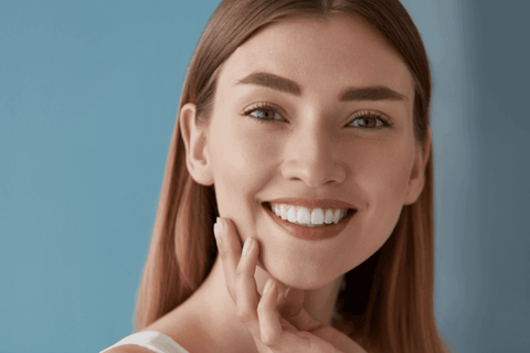 young woman white teeth smile