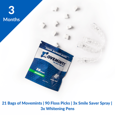 Essential Aligner Accessories | 3 Month Refill - Movemints, The Mint That Fits